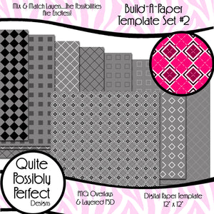 Build-A-Paper Digital Paper Template Set 2 (PT104) CU Layered Overlay for Creating Your Own Digital Papers Commercial Use OK