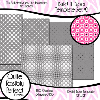 Build-A-Paper Digital Paper Template Set 3 (PT106) CU Layered Overlay for Creating Your Own Digital Papers Commercial Use OK