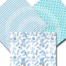 Baby Boy Digital Paper Pack Instant Download (DGP125) Baby Boy for Scrapbooking, Collage Sheets,Greeting Cards, Bottle Cap