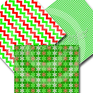Christmas Digital Paper Pack - Old Fashioned Christmas Papers (DGP134) for Scrapbooking, Collage Sheets,Greeting Cards, Bottle Caps