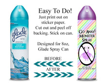 Digital Monster Spray Label Wrappers  -  Instant Download (M115) Digital Monster Spray Graphics - PERSONAL USE Only