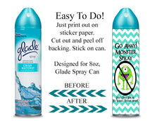 Digital Monster Spray Label Wrappers  -  Instant Download (M107) Digital Monster Spray Graphics - PERSONAL USE Only