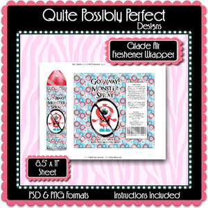 Digital Monster Spray Label Wrappers  -  Instant Download (M112) Digital Monster Spray Graphics - PERSONAL USE Only