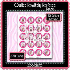 "1.5"" Digital Button Machine Images - Nurse Owls 2 Collage Sheet (ETR104P) 1 Inch Circles for Bottlecaps, Magnets, Jewelry, Hairbows, Buttons"