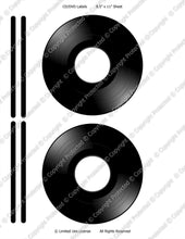 Digital CD/DVD Labels  -  Instant Download (M119) Digital Vinyl Record Graphics - Personal Use Only