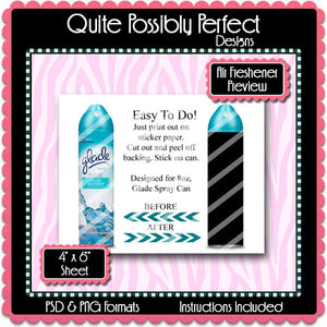 Air Freshener Label Wrapper Preview Template Instant Download PSD and PNG Formats (Temp571) Digital Preview Template