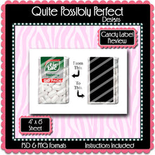 Candy Label Preview Template Instant Download PSD and PNG Formats (Temp570) Digital Bottlecap Collage Sheet Template