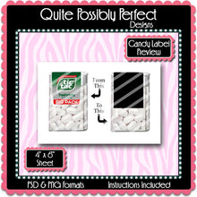 Wrapover Tic Tac Candy Label Preview Template Set - Instant Download PSD and PNG Formats (Temp570) Digital Bottlecap Collage Sheet Template