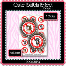 Digital Bottle Cap Images - Animal Allergies (ETR118) 1 Inch Circles for Bottlecaps, Magnets, Jewelry, Hairbows, Buttons