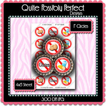 Digital Bottle Cap Images - Gluten Dairy Allergies (ETR119) 1 Inch Circles for Bottlecaps, Magnets, Jewelry, Hairbows, Buttons