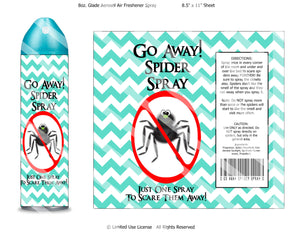 Digital Spray Spray Label Wrappers  -  Instant Download (M141) Digital Spider Spray Graphics - PERSONAL USE Only