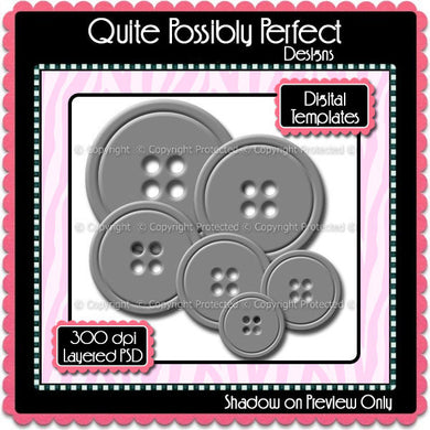 PSD Layered Digital Template - Buttons Clipart Template (dgt103) CU Digital Template for Creating Your Own Clipart Commercial Use OK