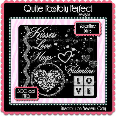 PSD Layered Template Overlay - Valentine Bling Clipart (cjc101) CU Layered Digital Template for Creating Your Own Clipart Commercial Use OK