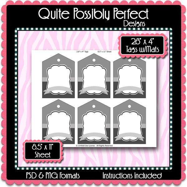 2.8x4 Inch Tags Template Instant Download PSD and PNG Formats (Temp671) Digital Bottle Cap Collage Sheet Template