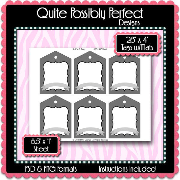 2.8x4 Inch Tags Template Instant Download PSD and PNG Formats (Temp670) Digital Bottle Cap Collage Sheet Template