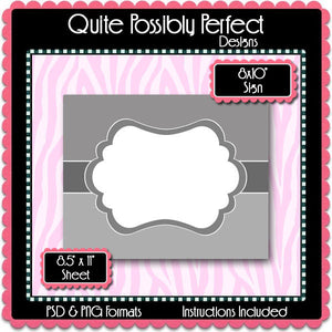 "8x10"" Sign Template with Clipping Layers Instant Download PSD and PNG Formats (Temp696) Digital Bottlecap Collage Sheet Template"
