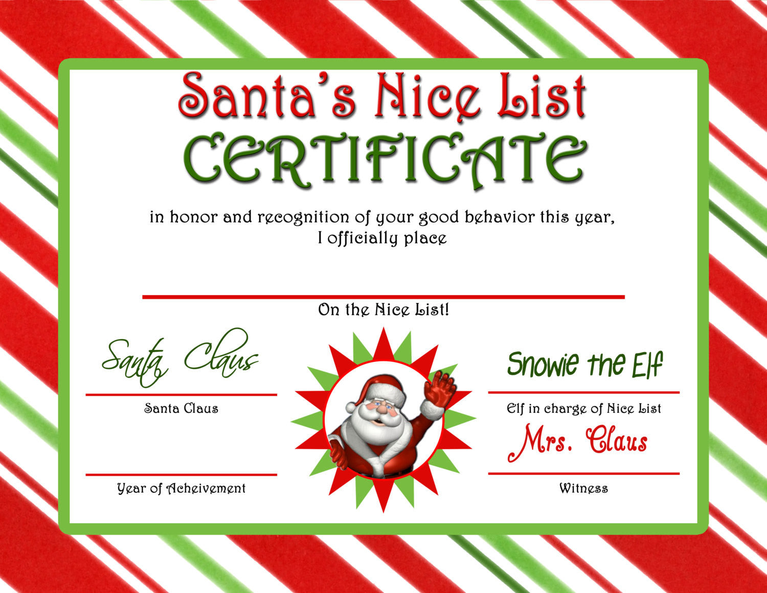 Letter from santa nice list certificate instant download jpeg letter from santa nice list certificate instant download jpeg m102 digital jpg xflitez Gallery