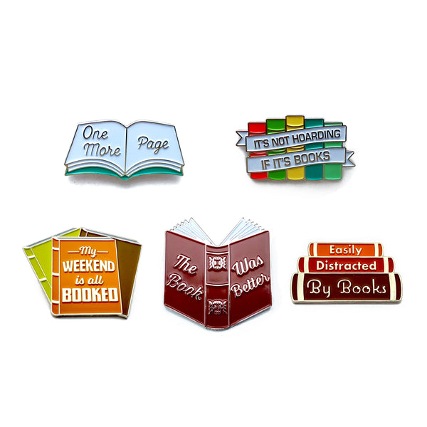 Book Enamel Pins