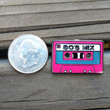 80's Mix Cassette Tape Enamel Pin