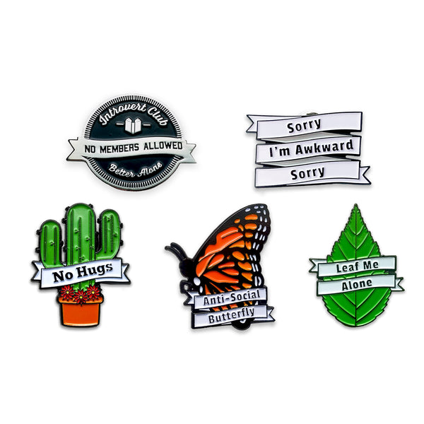 Introvert Enamel Pin Set