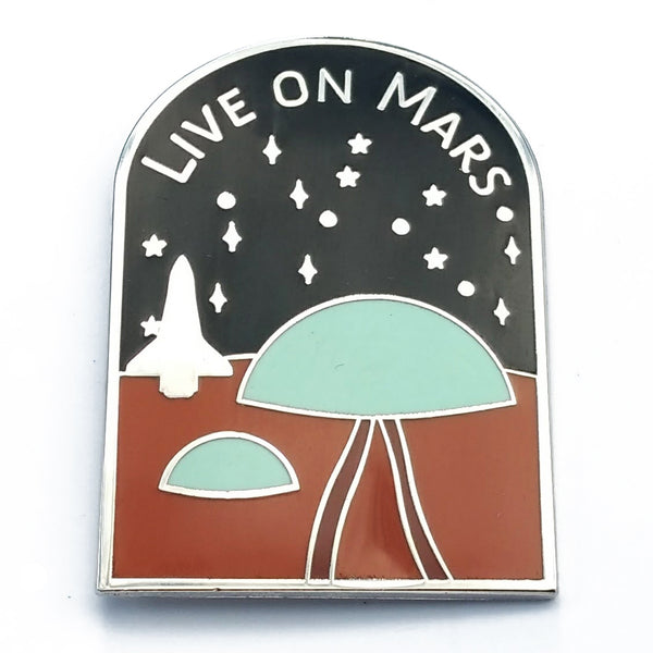 Live on Mars Enamel Pin