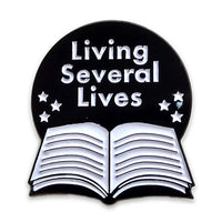 Living Several Lives Book Enamel Pin