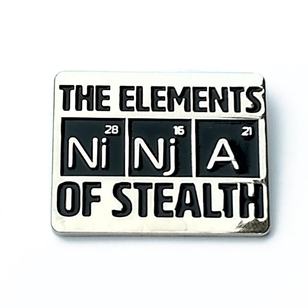 Ninja Elements of Stealth Enamel Pin
