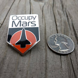 Occupy Mars Enamel Pin