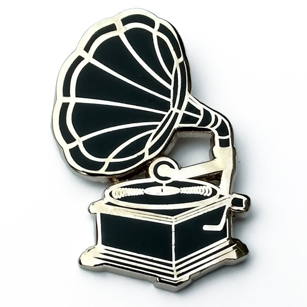 Phonograph Enamel Pin