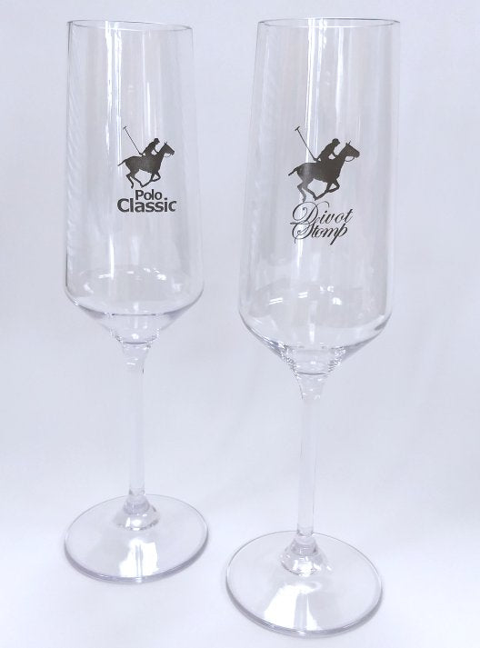 Polo Acrylic Champagne Flutes
