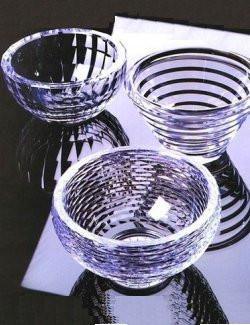 Acrylic Faceted Serving Bowls