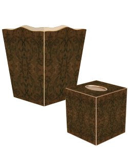 Rustic Damask Decoupage Bath Set