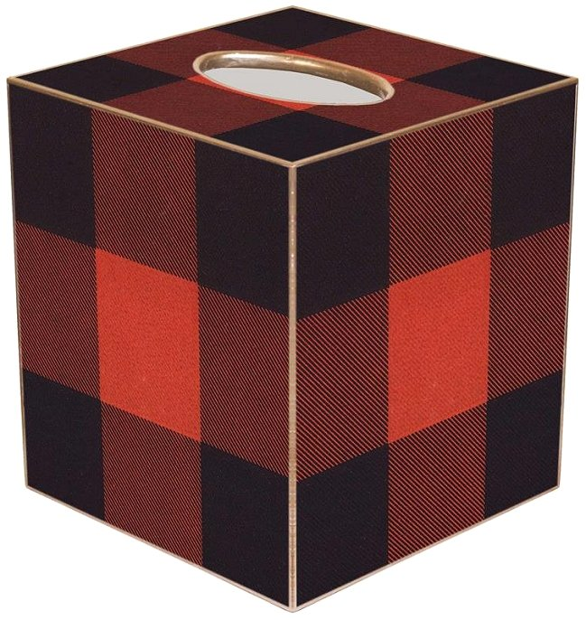 Buffalo Plaid Decoupage Tissue Box Cover
