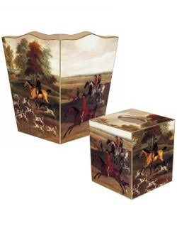Vintage Hunting Hounds Decoupage Bath Set