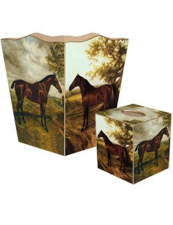 Equine Portraits Decoupage Bath Set