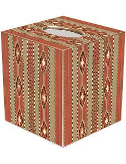 Southwestern Stripe Decoupage Tissue Box Cover