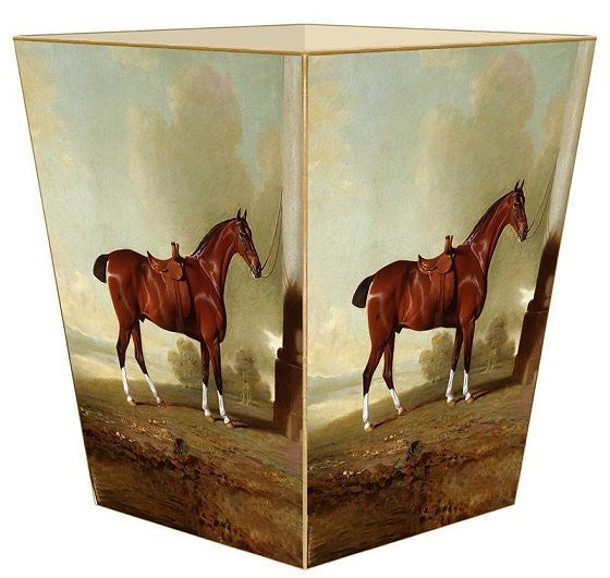 Chestnut Hunter Portrait Decoupage Bath Set