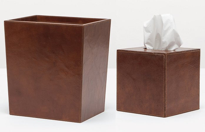 Wellington 4-Piece Leather Bath Sets