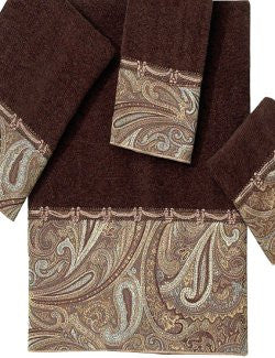 Huntsman's Paisley Cotton Velour Towel Sets