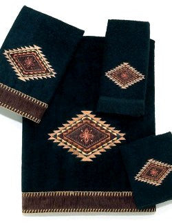 Golden West Medallion Cotton Velour Towel Sets