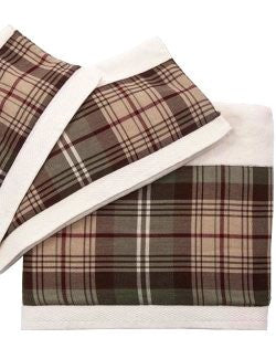 Rustic Plaid Cotton Towel Sets