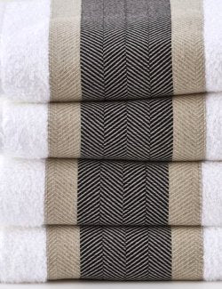 Manor Herringbone 3-Pc. Towel Set