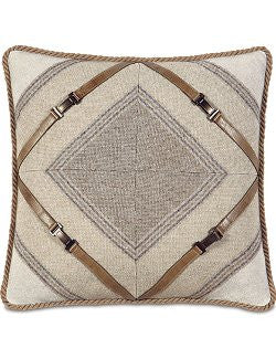 Equine Elements: Buckle Trim Mitered Accent Pillow