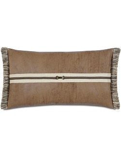 Equine Elements: Leather Buckle Lumbar Pillow