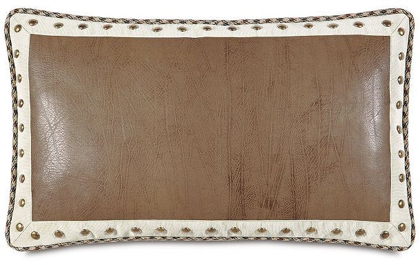 Equine Elements: Leather Nail Head Lumbar Pillow
