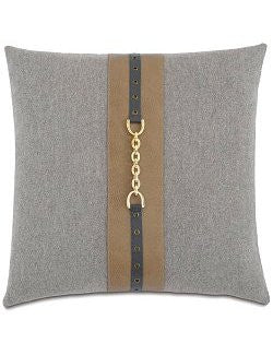 Kensington Manor: Chain Trim Stone Pillow