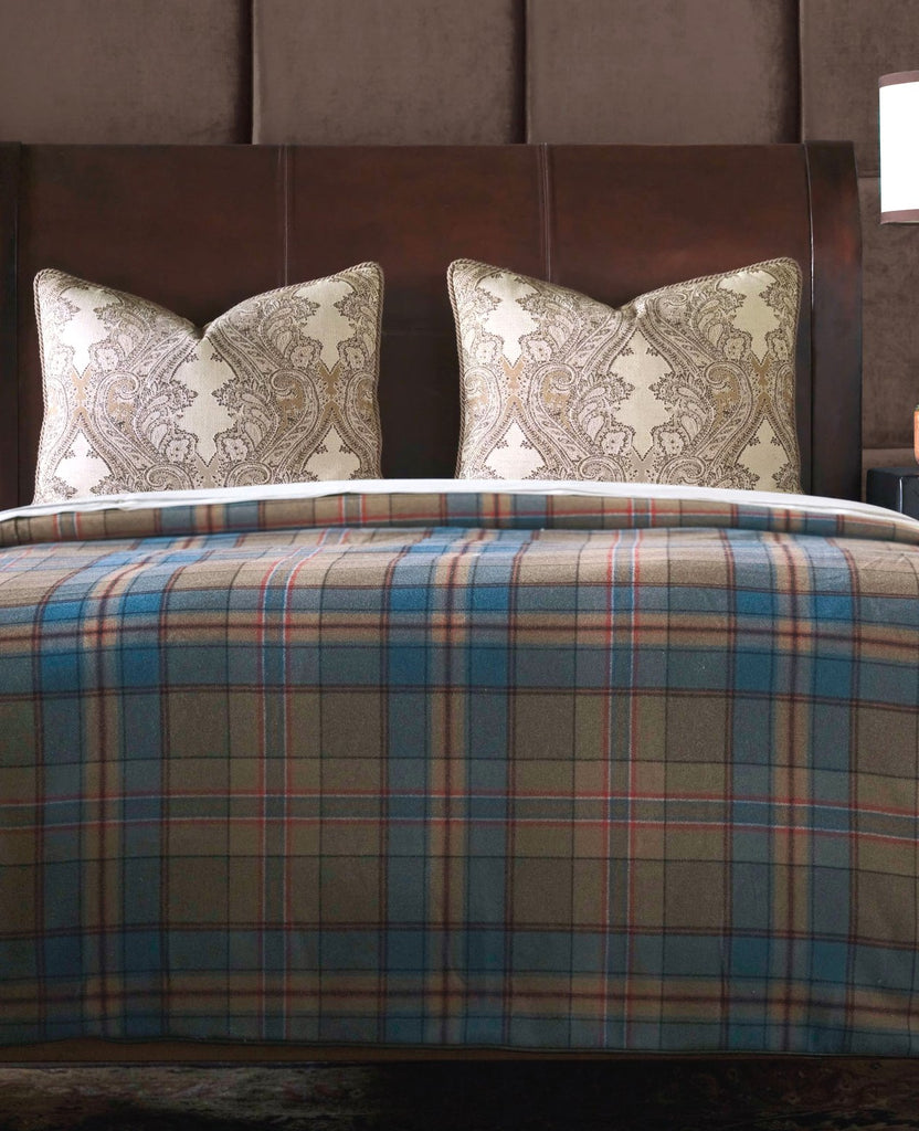 Blue Moon Plaid Luxury Bedding Collection