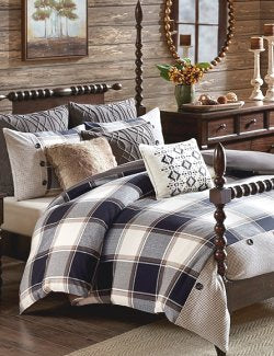 Classic Bunk House Plaid Comforter Sets