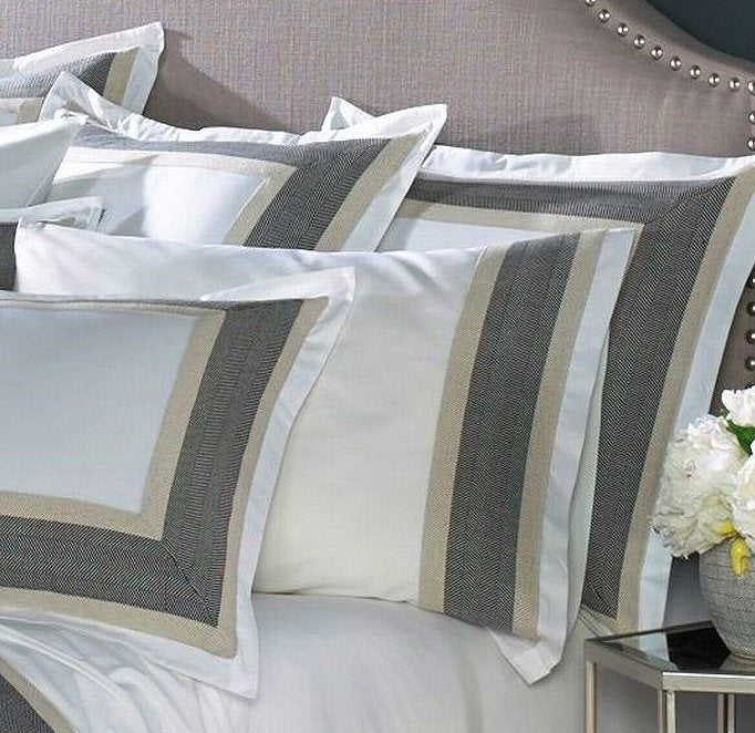 Sophisticated 400TC bedding herringbone pattern