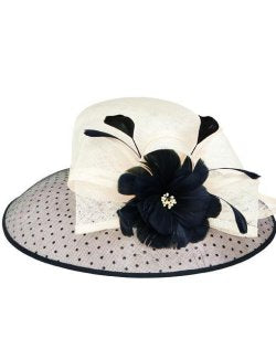 Black & White Dotty Derby Hat